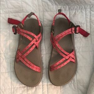 Pink & Gray Chaco's